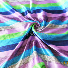 poly satin fabric clothing diy home decor curtain tissu soft stripes charmeuse material(China)