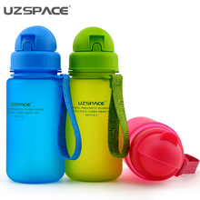 400ML 350ML 300ML BPA free Tritan Baby Straw Water Bottles Children Health Colorful Nutrition Custom Kids Shaker Cover Bottles(China)