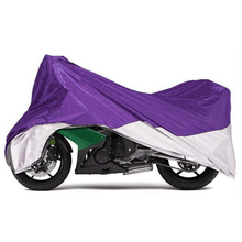 Partol Purple Silver Motorcycle Cover XXL PU 180T Moto Covering Outdoor Rain UV Dust Snow Dustproof Scooter Touring Dirt Bike(China)