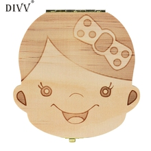 Home Wider DIVV  Tooth Box Organizer for Baby Milk Teeth Save Wood Storage Box for Kids Boy&Girl feb17 Drop Shipping