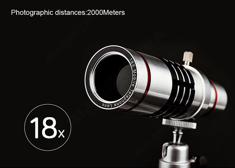 Universal 18x zoom lens Magnification Optical Camera Telephoto Lens Telescope With mini Tripod For Iphone Smartphone Gold 4