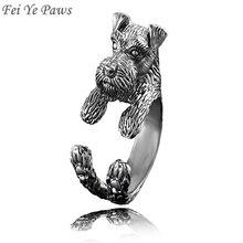 Фэй YE лапы Цвергшнауцер и крыса терьер собака кольцо Для мужчин животное собака Свадебные Кольца подарок для Для женщин Обувь для девочек а...(China)