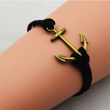 2015 Simple Ancient bronze anchor Bracelet wholesale fashion jewelry