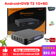 Freesat GTT Android+DVB-T/T2/Cable TV Box HD 4K 3D Wireless Automatic Manual Search Built-in Wifi 1GB RAM 8GB ROM 24 Languages(China)