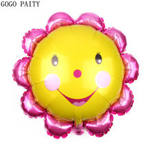 GOGO PAITY New sunflower smiley shape aluminum balloon children's holiday party decoration balloons wholesale(China)