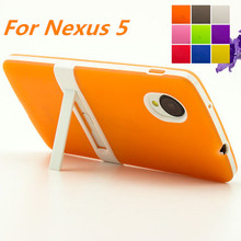 Ultra-thin PC Frame TPU Soft Cover Silicon Case For LG Nexus 5 Matte Feel Phone Cases For Google Nexus 5 E980