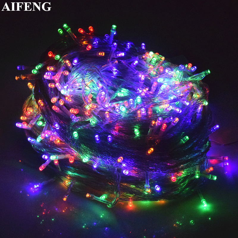 AIFENG Light String 20M 30M 50M 100M Garland 200Leds 400Leds 500Leds Light String For Christmas Wedding Party Holiday Decoration