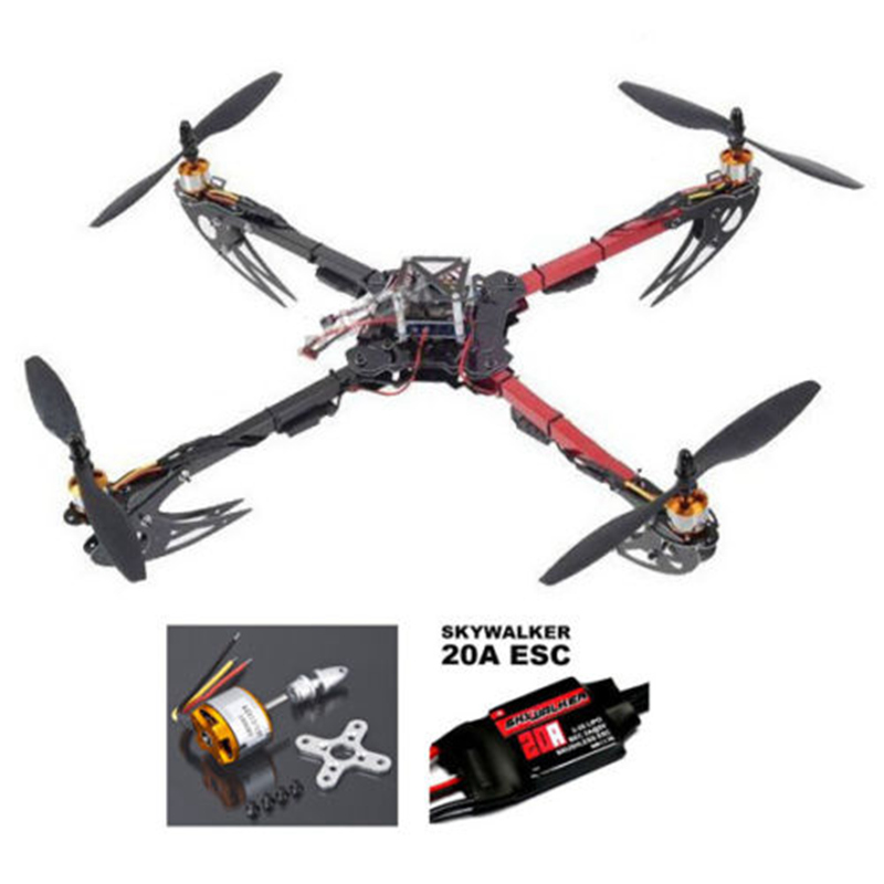 DIY X525 V3 QuadCopter Glass Friber Foldable ARF Kit- Mini KK2.15 FC Flight Controller 20A ESC XXD 1000KV Motor 1045 Propeller<br><br>Aliexpress