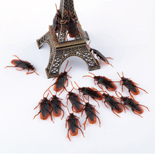 10pcs/set Lifelike Simulation Cockroach Novelty Gag Toys Cool Stuff Boy Toys Anti-stress Relief Funny Gags Practical Jokes Props(China)