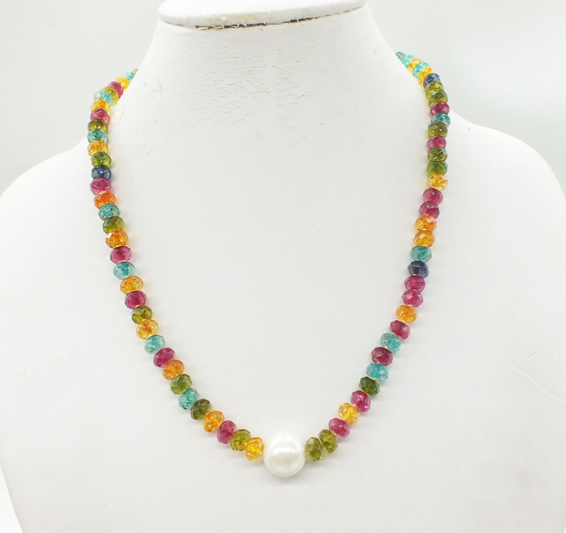 crystal necklace   20""