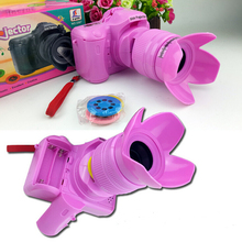 Plastic Children Toys Camera For Kids Educatonal Toys Projection Camera With Music Simulate SLR Camera Toy Child Gift Toys TY45