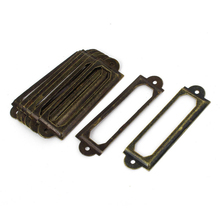Antique Bronze Iron Label Frame Card Holder Bookcases Shelf Drawer Cabinet Category Tag Holders 60 x 17mm