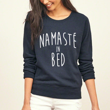Namaste In Bed Women harajuku fitness sweatshirt 2017  autumn fleece tracksuits long sleeve brand pullover pink hoodies