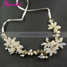 Free Shipping Vintage Inspired Of Beaded Floral Hair Vines Headband Wedding Tiara Crown Accessories