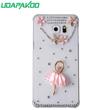 Udapakoo 3D Luxury Women Diamond Bling Crystal Rhinestone Case for Samsung N7000 i9220 Note 2/4/5/8 Note 3 Neo N7505 Note Edge(China)