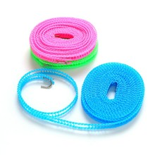 LKQBBSZ Adjustable Nylon Outdoor Anti Slip Slide Drying Dresses Clothes Hanger Clothesline Rope Line Cord String Camping Travel(China)