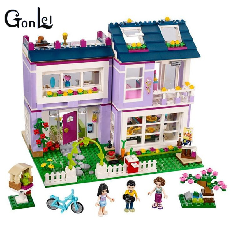 (GonLeI) 10541 Compatible with Friends Emmas House 41095 Building Blocks Emma Mia Figure Educational Toys For Children Girl<br>