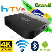 *2018 New* A2 HTV 5 box IPTV Portuguese Brazilian internet 4K ultra HD IPTV TV Box Brazilian live TV& Movies Streaming box(China)