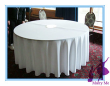 100% Polyester White Tablecloth in 90''/ Round Table cloth for Wedding Sturdy Table cover Free Shipping