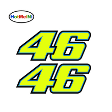HotMeiNi 18*7.2cm 2 x Number 46 Valentino Rossi Moto GP Car, laptop, motorbike Decal Car Sticker Body Window Vinyl Drift Decal(China)