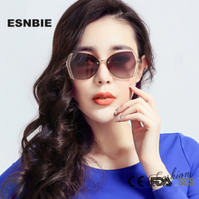 ESNBIE OPTICAL New LUXURY Polarized Sun Glasses for Women Butterfly oculos feminino Brand Sunglasses Women Original Package(China)