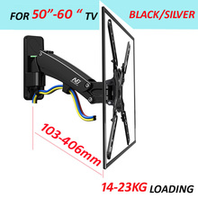 "NB dual Long arm50-60"" 14-23kg air press Gas spring F400 full motion Monitor wall bracket LCD PLASMA tv mount lcd holder support"