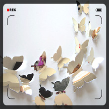 KXAAXS 3D PVC Butterfly  Wall Stickers Decal Butterflies  Detachable Mirror Wall Art Home Decoration butterfly decoration