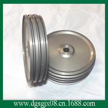 Polyester yarn wire pulley,  Surface oxide guide pullley, Anode  metal Aluminum combined idler pulley