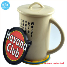 Promotional customized soft pvc cup mat cute cartoon deign printing cup coaster only welcome customer design