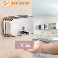 Wholesale And Retail Modern Bathroom Kitchen Wall Mounted Touch Soap Box Liquid Shampoo Bottle Soap Dispenser(China)