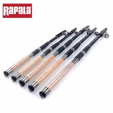 Rapala THUNDER STICK Telescopic Fishing Rod Wooden Handle Carbon Material 1.8mm Front Diameter Portable Fishing Rods 2.1m-3.6m