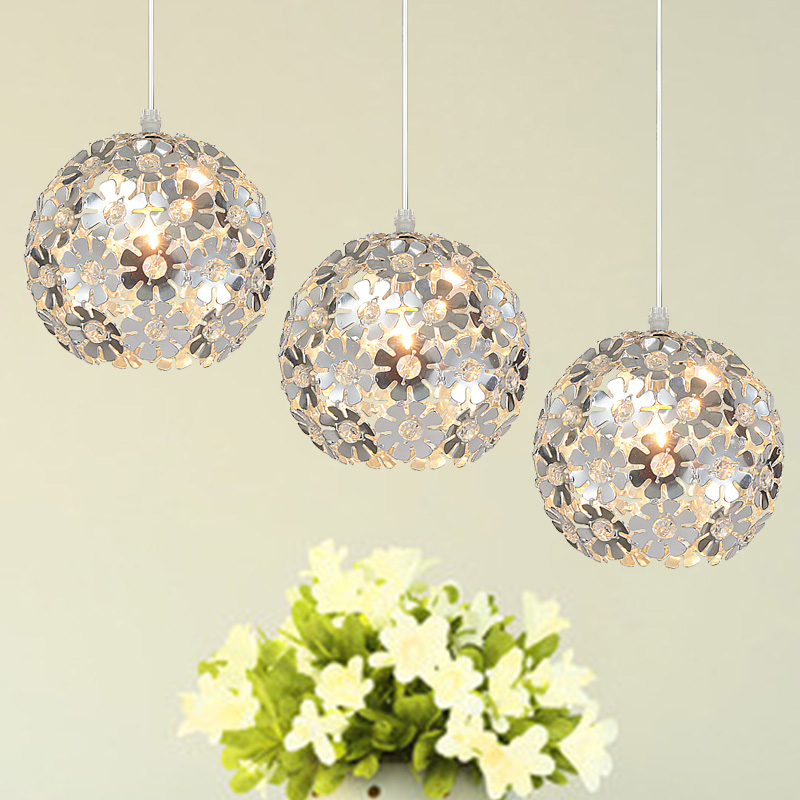 Aluminum hollow 1/3 heads lamps  pendabt light bedroom room parlor hanging wire study bedroom pendant lamp lighting ZA<br>
