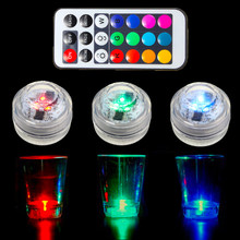Mini 1W 1.5V RGB LED Light Bulb Colorful Round Candle Bulb Underwater Lamp With Remote Control Waterproof IP65 Decor Lighting(China)