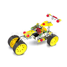 DIY intelligence toys assembled metal alloy F1 racing car model alloy puzzle toy building blocks Free shipping(China)