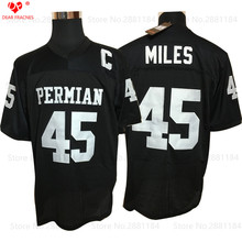 Permian Movie Mens Cheap Friday Night Light American Football Jerseys #45 Boobie Miles Jersey Retro Stitched Black Shirt for Men