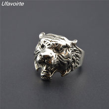 Ufavoirte New 1pc Fashion Stainles Steel Vintage Cool Domineering Tiger Ring Mens Ladies Ring Men Jewelry Gift Wholesale
