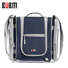 BUBM Multi-Use Bag Travel Hook Hanging Toiletry Bag Organizer Bathroom Storage Cosmetic Bag With Removable Side Compartments Bag(China)