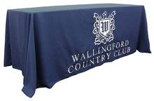 8' Custom Print Trade Show Table Skirts & Covers, Open Back Table, Custom Printed Tablecloths(China)