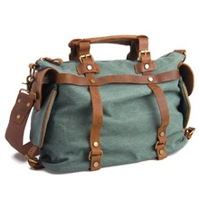 Free Shipping Men Women Messenger Bags Canvas Vintage Leather Handbags Large Capacity Duffle Travel Bag Shoulder Crossbody Bag