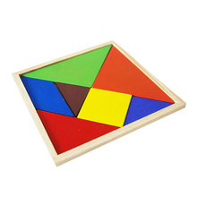 Durable 1Pcs Fashion Geometry Wooden Jigsaw Puzzle Kids Children Education Toys For Tots Baby Toy PQQ01