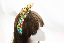 Head Hair Scarf Yellow Flowers Hippy Floral BOHO Pin Up Headband 50s Band Vintage Goth Hair Accessories