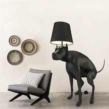 Life Sized Dog Floor Lamp, 130cm Height Polymer Plastic Dog(China)