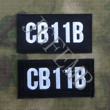 Black nylon cloth CALL SIGN Customize Embroidery Patch Badges