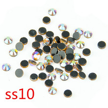 Best selling ! Topaz AB SS10 500 Gross/Pack Crystal Glass HotFix Stone Back With Glue Strass DIY Loose Clothing Stones