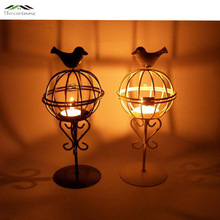 Metal Bird Cage Wedding Candle Holder Lantern Morocco Vintage Small Lanterns For Candles Decorative Cages Moroccan Lamp 026