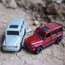 1:64 Alloy car model Sports car series Benz G65 SUV 2PCS Super sports car Children like the gift Family Collection Decoration(China)