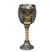 200ml Double Wall Resin Stainless Steel 3D Skull Drinking Mug Personalized Dragon Bone Skull Metal Wine Goblet Mug #228891