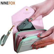 Wallets Fashion Lady Women Leather Clutch Purse Phone Wallet Short Bag Card Holder for iphone 4 5 6 6s(China)