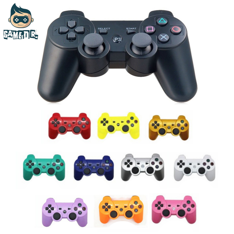 10pcs For Sony Playstation 3 Wireless Bluetooth Gamepad Joystick For PS3 Controller Controls Game Gamepad 11 Colors FEDEX(China)
