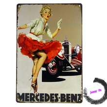 Tin Sign *Marilyn Monroe*Classic Car sign  Pin up Girl Classic Auto Garage Ads G61